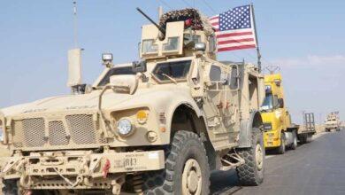 """صورة """"الأمريكي"""" يعزز قواعده بريف الحسكة بـ 50 آلية عسكرية"""