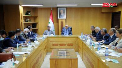 صورة بحث تنفيذ اتفاقيات التعاون الاقتصادي والتبادل التجاري بين سورية وإيران