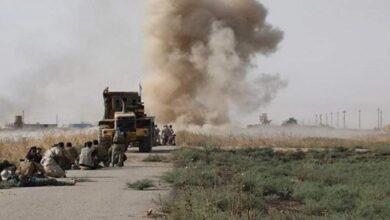 صورة إعطاب رتل عسكري إمريكي في العراق