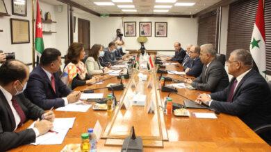صورة بدء اجتماعات وزارية سورية أردنية في عمان