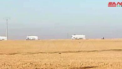 صورة الاحتلال الأميركي يخرج رتلاً محملاً بالنفط المسروق من سورية إلى العراق
