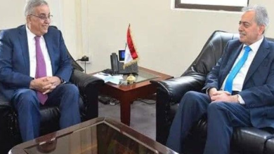 صورة وزير خارجية لبنان يبحث مع السفير عبد الكريم العلاقات بين البلدين