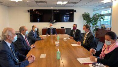 صورة المقداد يبحث مع المدير التنفيذي لبرنامج الأمم المتحدة الإنمائي عمل البرنامج في سورية