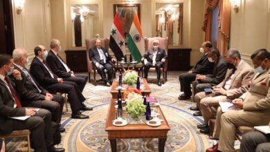 صورة وزير خارجية الهند يؤكد للمقداد استمرار بلاده بتقديم المساعدة لسورية