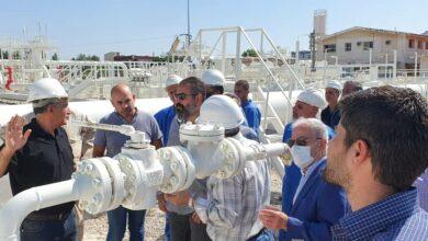 صورة فريق فني سوري لبناني مشترك للكشف على خط الغاز العربي في الجانب اللبناني