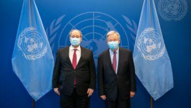 صورة المقداد يلتقي في نيويورك الأمين العام للأمم المتحدة وعدداً من الوزراء