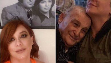 """صورة سلاف فواخرجي في وداع والدها: """"روحي راحت معك"""""""