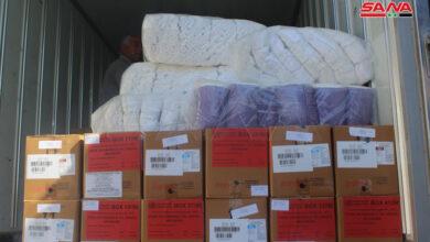 صورة توزيع أدوية إسعافية وعلاجية للمجمع الطبي في حي درعا البلد