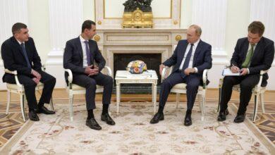 صورة بوتين: الحكومة تسيطر اليوم على ٩٠٪ من أراضيها والوجود الأجنبي على الأراضي السورية يتعارض مع جميع القوانين الدولية
