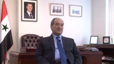 """صورة المقداد: سورية لا تخاف من """"إسرائيل"""" ولا من الدول التي تدعمها"""