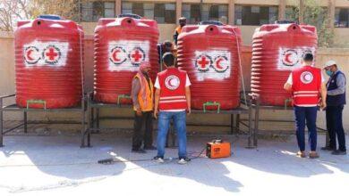 صورة الهلال ينفذ عملية تأهيل وصيانة لأحد مراكز الإيواء في مدينة الحسكة