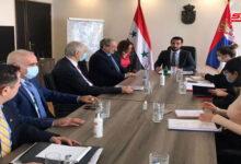 صورة المقداد يلتقي وزيرين صربيين.. ضرورة تفعيل الاتفاقيات الاقتصادية بين البلدين