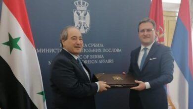 صورة المقداد و نظيره الصربي يتفقان على تعزيز العلاقات الثنائية