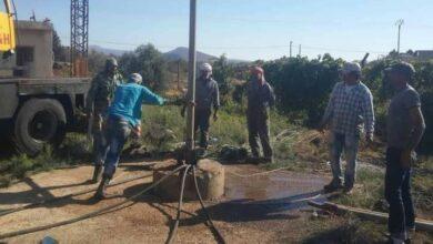 صورة إعادة تشغيل خمس آبار لمياه الشرب في قرى وبلدات السويداء